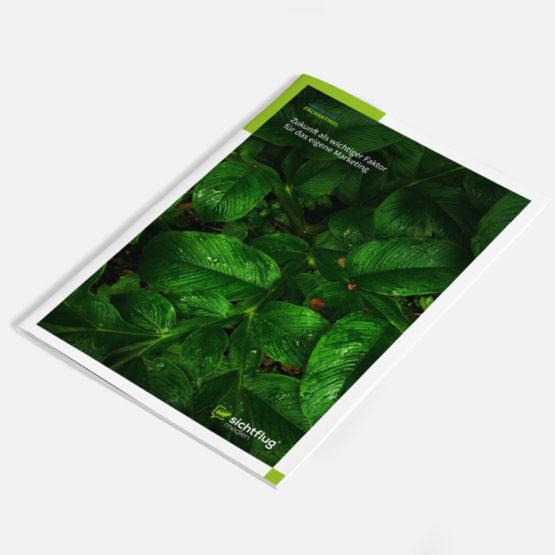 Das Bild zeigt das Cover eines Magazins für den Artikel Zukunft als wichtiger Faktor für das eigene Marketing