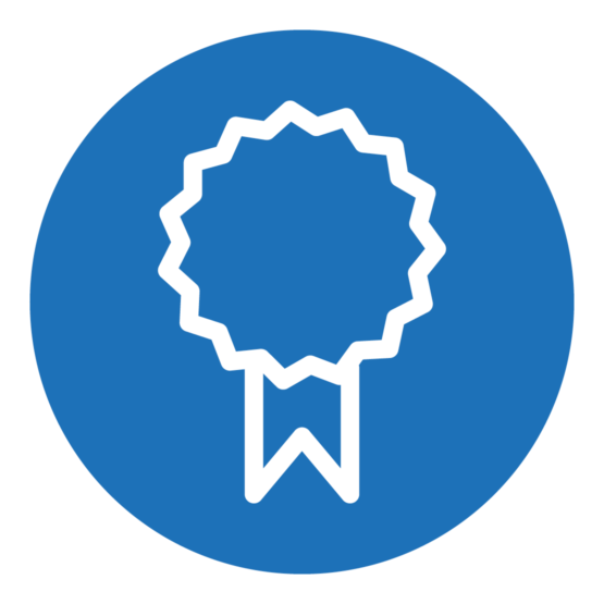 Icon, das ein Symbol einer Auszeichnung zeigt